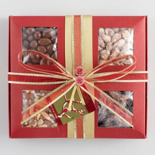 Winter Berry Nut Gift Tray