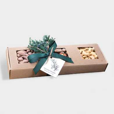 Gourmet Trio Natural Corrugated Tin Gift Set