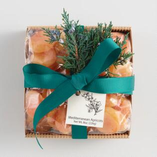 Dried Apricots Square Natural Corrugated Tin Tray