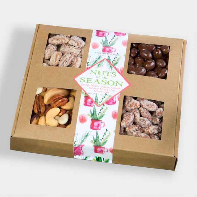 Nuts of the Season Natural Four Window Tray