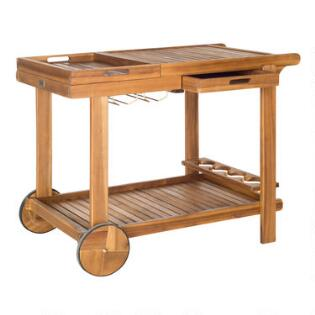 Wood Outdoor Bar Cart