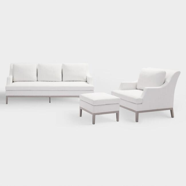 White Evanston Indoor and Outdoor Occasional Collection