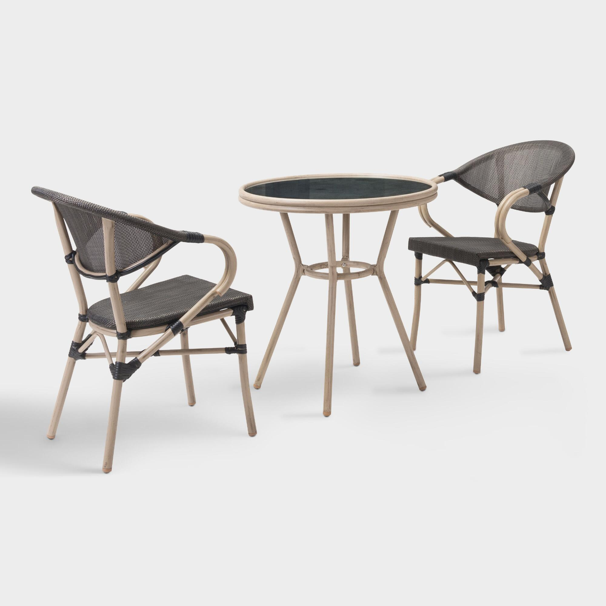 All Weather Wicker Elie Outdoor Patio Bistro Collection by World Market