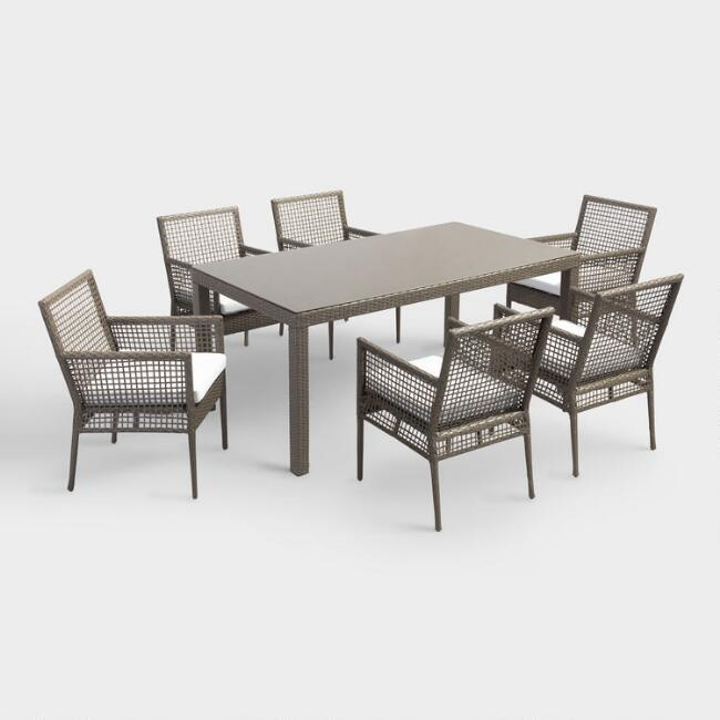 All Weather Wicker Erich Outdoor Dining Collection