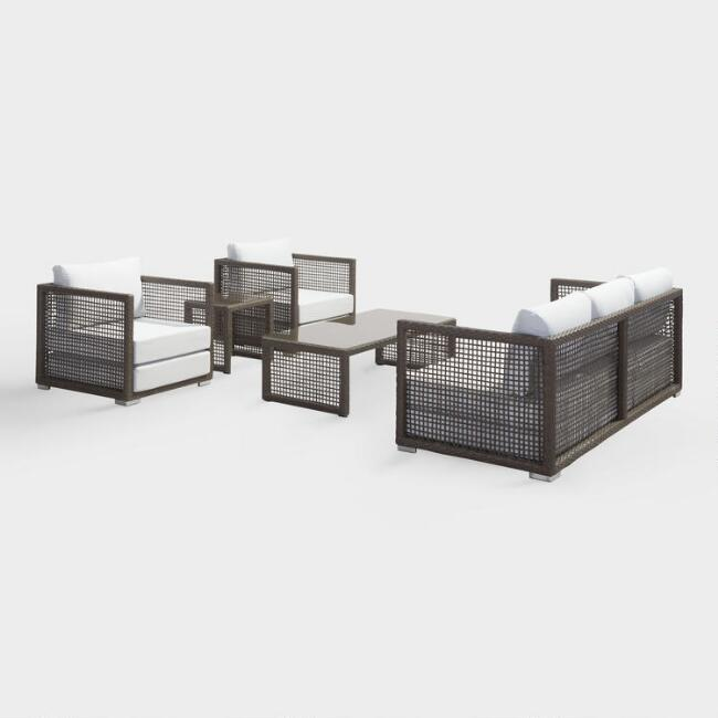 All Weather Wicker Erich Outdoor Occasional Collection