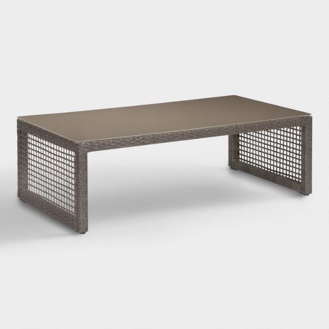 All Weather Wicker Erich Outdoor Occasional Coffee Table