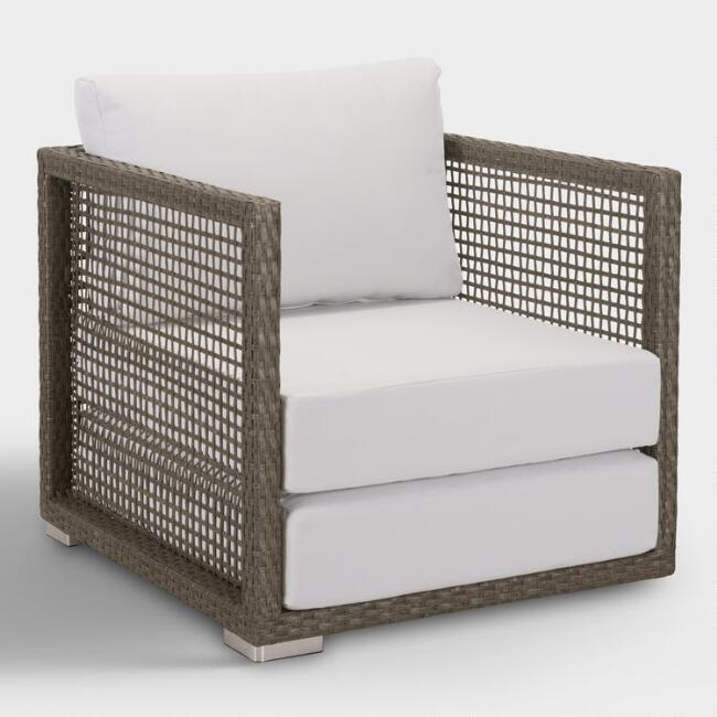 All Weather Wicker Erich Outdoor Occasional Armchair