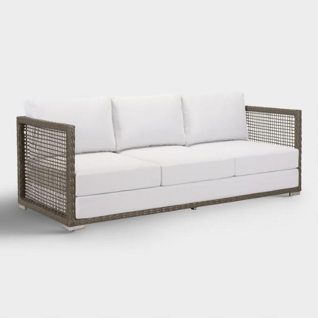 All Weather Wicker Erich Outdoor Occasional Bench