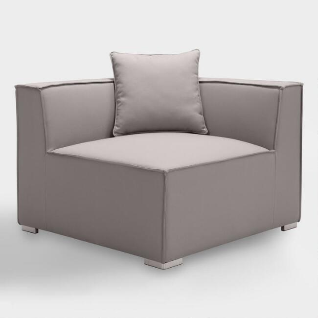 Gray Randall Outdoor Sectional Corner Chair