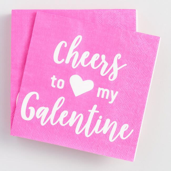 Cheers to My Galentine Beverage Napkins 20 Count