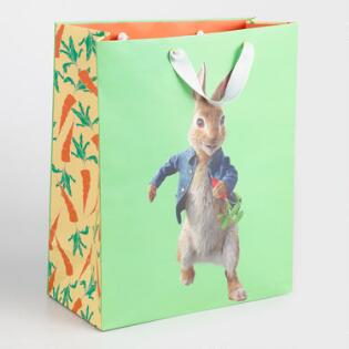Gift bags gift boxes world market large peter rabbit and carrots gift bag negle Images