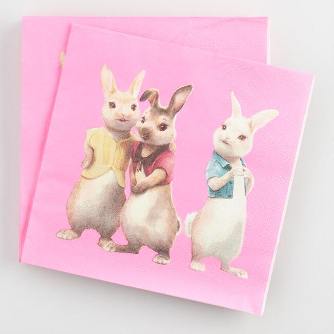 Peter Rabbit Triplet Lunch Napkins 20 Count