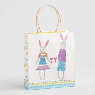 Gift bags gift boxes world market medium bunny couple easter gift bag negle Gallery