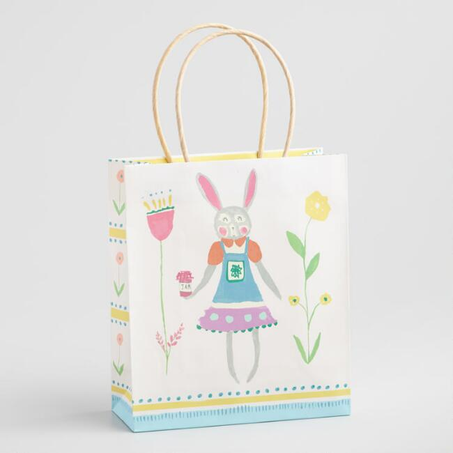 Medium Bunny Girl Easter Gift Bag