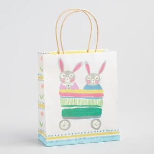 Gift bags gift boxes world market medium bunny wagon easter gift bag negle Gallery