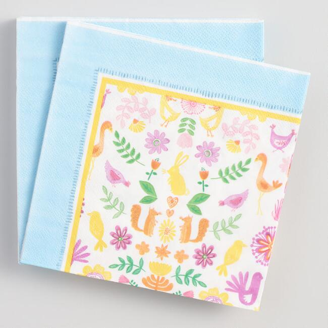 Floral Easter Lunch Napkins 20 Count