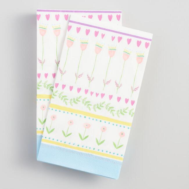 Floral Easter Guest Napkins 20 Count