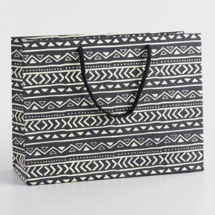 Gift bags gift boxes world market large cape town black geometric stripe handmade gift bag negle Choice Image