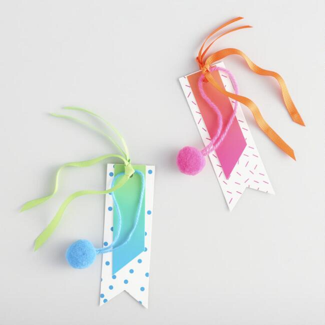 Pom Pom Gift Tags Set of 2