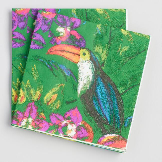 Toucan Beverage Napkins Set of 2