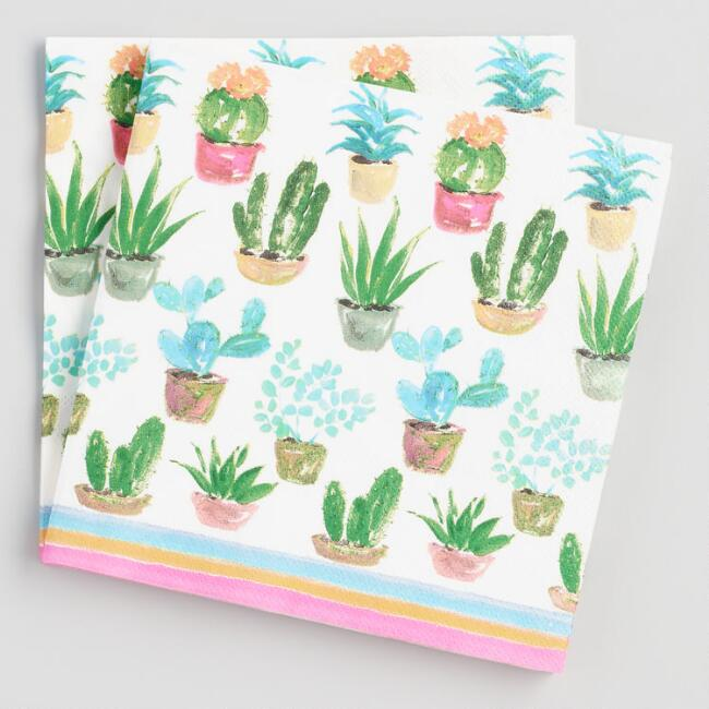 Cactus Lunch Napkins 20 Count