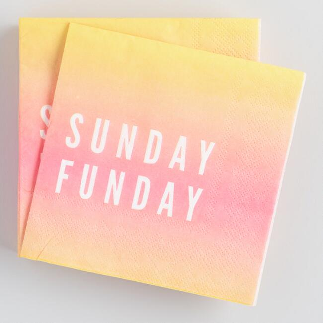 Sunday Funday Beverage Napkins 20 Count