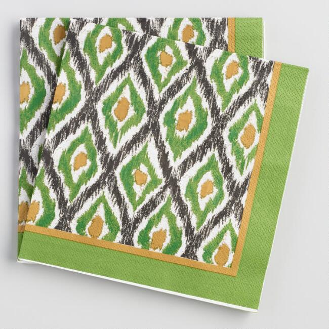 Green Jungle Diamond Lunch Napkins 20 Count