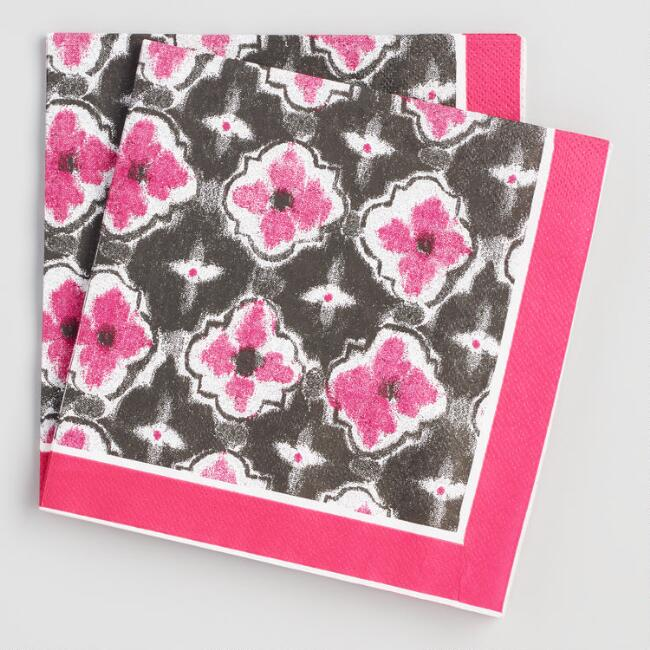 Fuchsia Abstract Jungle Lunch Napkins 20 Count