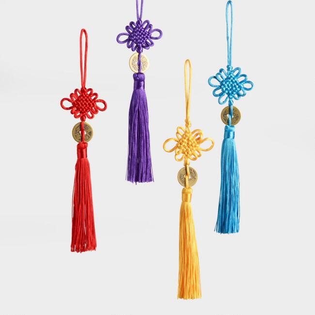 Lucky Coin Hanging Decor Set of 4