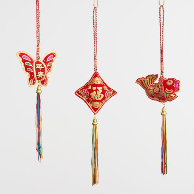 Luck and Love Hanging Decor Set of 3