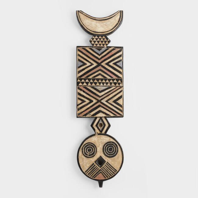 Tribal Plank Mask Wall Decor