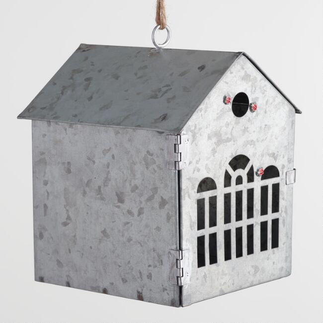 Metal Outdoor Hanging Ladybug House