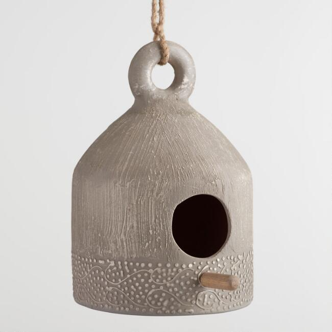 Etched Terracotta Birdhouse