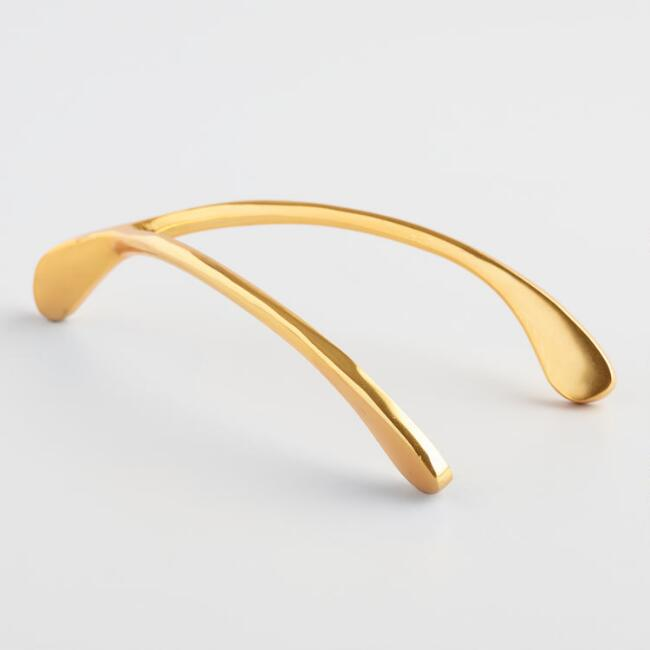 Brass Wishbone Decor