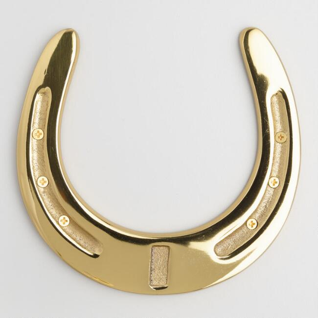 Brass Horseshoe Decor