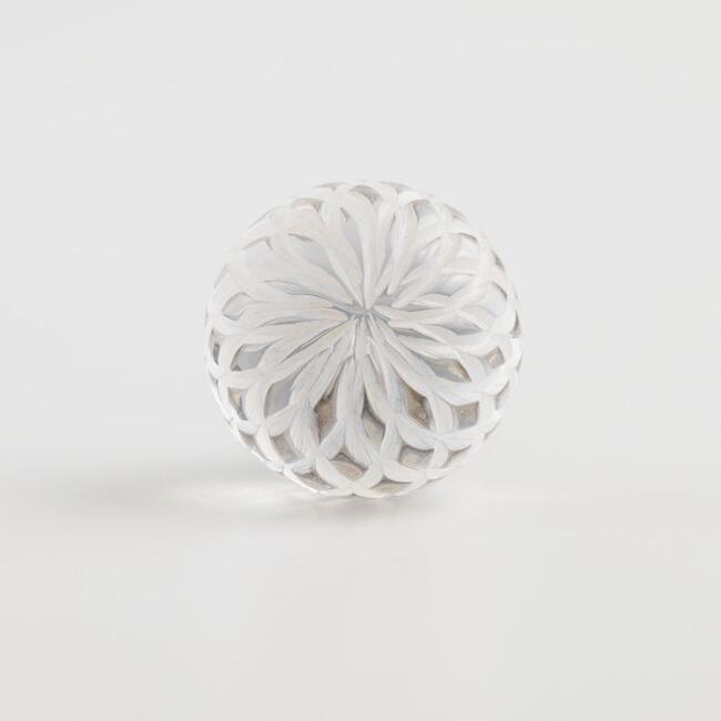 Clear Ball Knobs Set of 2