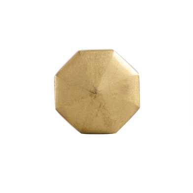 Brass Geometric Knobs Set of 2