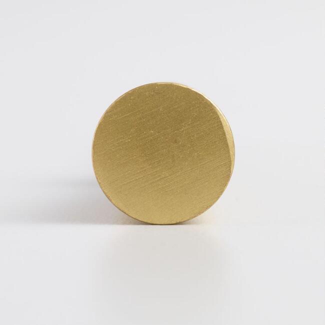 Brass Cone Knobs Set of 2