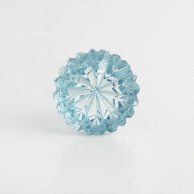 Blue Clear Watermelon Knobs Set of 2