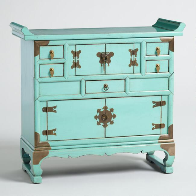 Mint Wood Butterfly Cabinet