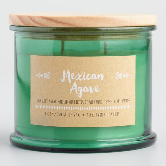Mexican Agave Medallion Stamped Lid Jar Candle