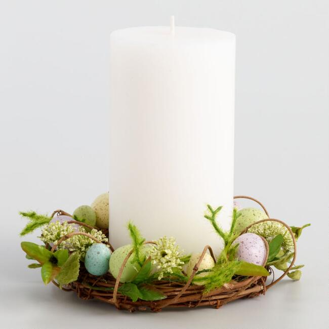 Egg Nest Pillar Candle Ring