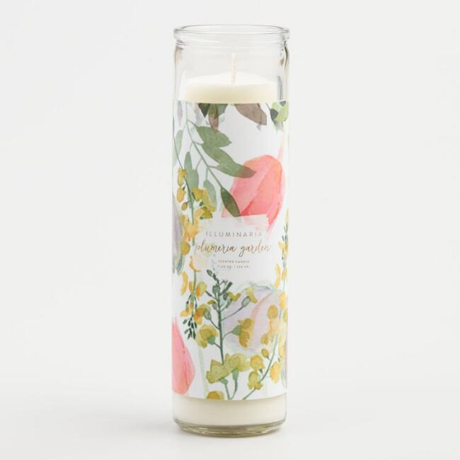 Plumeria Garden Tall Filled Candle