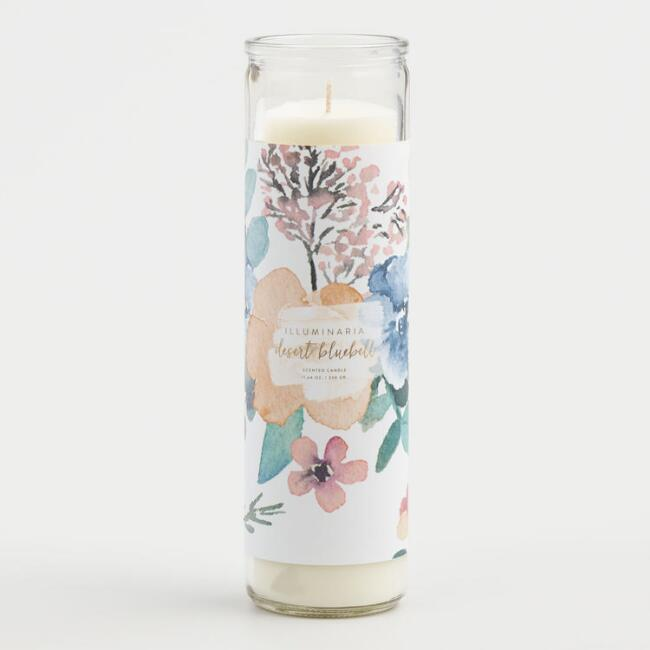 Desert Bluebell Tall Filled Candle