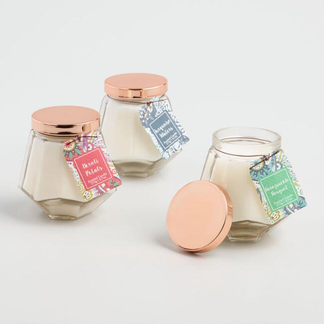 Paisley Glass Jar Candle Collection