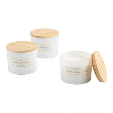 Floral Lid Scented Candle Collection