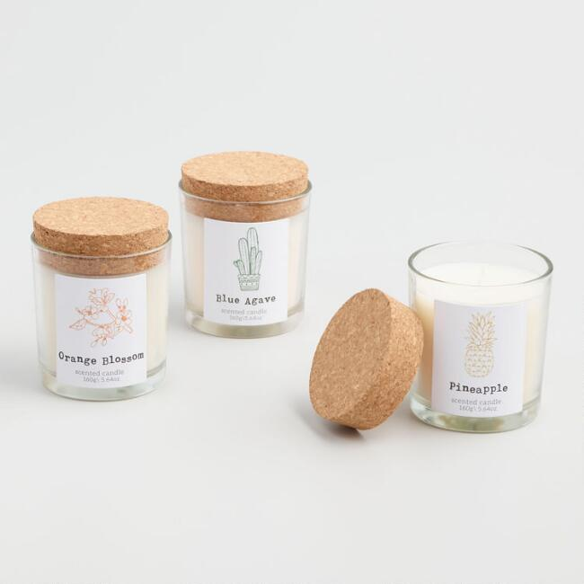Cork Top Filled Jar Candle Collection