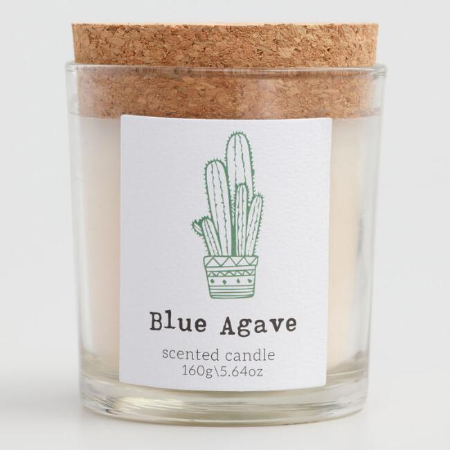Cactus Flower Cork Top Filled Jar Candle