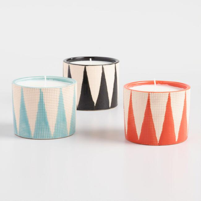 Geometric Citronella Candles Set of 3