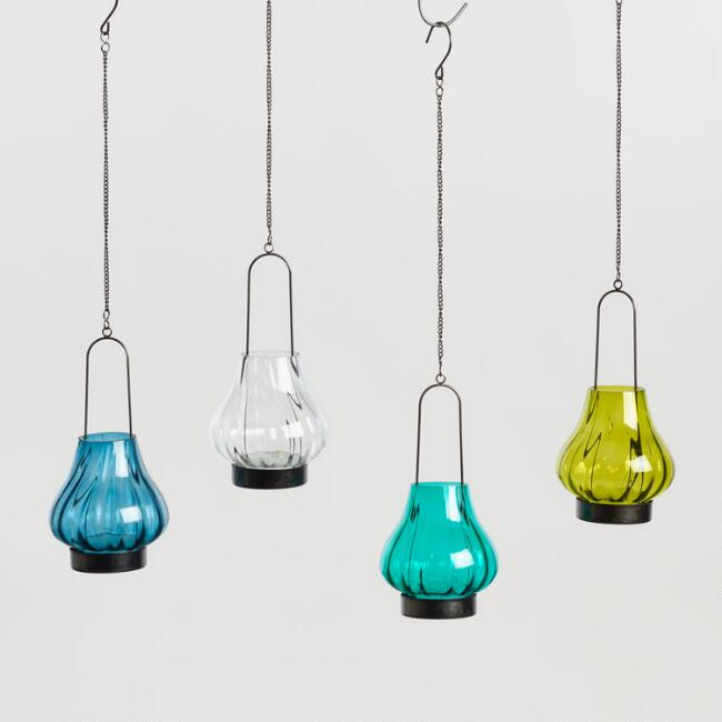 Teardrop Mini Hanging Lantern Set of 4